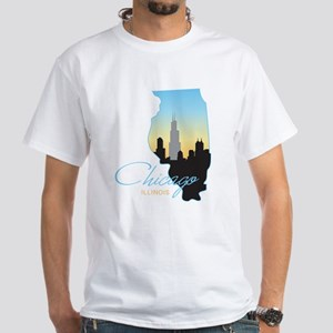 Chicago Illinois White T-Shirt