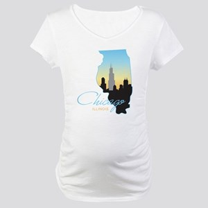 Chicago Illinois Maternity T-Shirt
