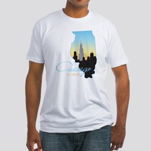Chicago Illinois Fitted T-Shirt