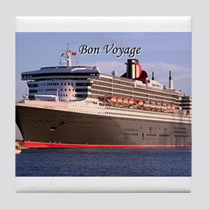 Bon Voyage: cruise ship 2 Tile Coaster