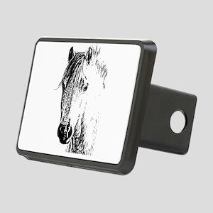 Horse Love 2 Rectangular Hitch Cover