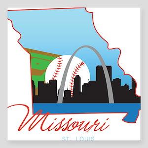 """Saint Louis Missouri Square Car Magnet 3"""" x 3"""""""