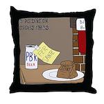 Redneck Christmas Throw Pillow