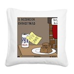 Redneck Christmas Square Canvas Pillow