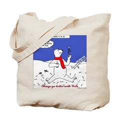 North or South Pole? Tote Bag