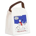North or South Pole? Canvas Lunch Bag