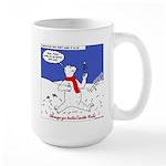 North or South Pole? Large Mug