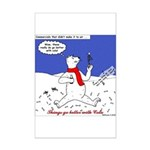 North or South Pole? Mini Poster Print