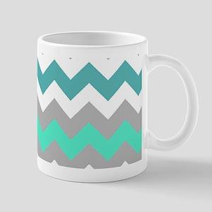 Shades of Blue Chevron Mug