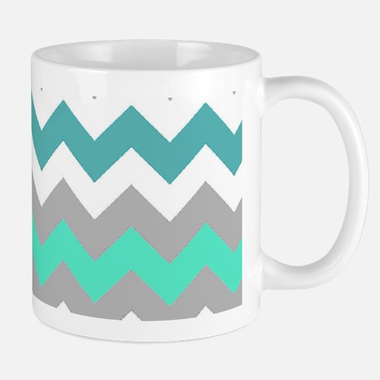 Shades of Blue Chevron Mug