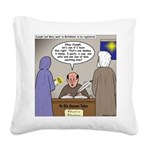 Bethlehem Census Square Canvas Pillow
