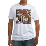 Ant Gingerbread House Fitted T-Shirt