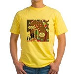 Ant Gingerbread House Yellow T-Shirt