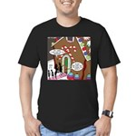 Ant Gingerbread House Men's Fitted T-Shirt (dark)