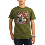 Ant Gingerbread House Organic Men's T-Shirt (dark)