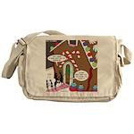 Ant Gingerbread House Messenger Bag