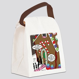 Ant Gingerbread House Canvas Lunch Bag