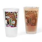 Ant Gingerbread House Drinking Glass
