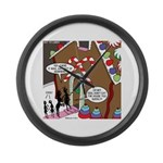 Ant Gingerbread House Large Wall Clock