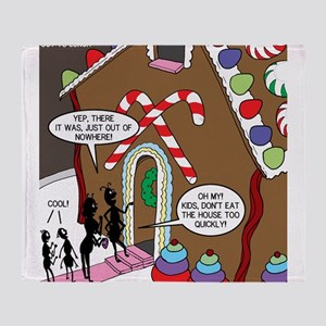 Ant Gingerbread House Throw Blanket