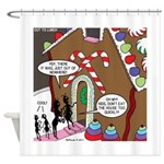 Ant Gingerbread House Shower Curtain