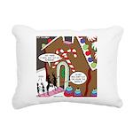 Ant Gingerbread House Rectangular Canvas Pillow