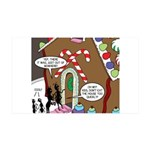 Ant Gingerbread House 35x21 Wall Decal