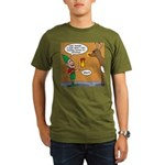 GPS - Bad Reindeer Gift Organic Men's T-Shirt (dar
