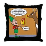 GPS - Bad Reindeer Gift Throw Pillow
