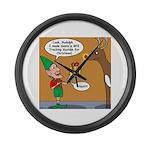 GPS - Bad Reindeer Gift Large Wall Clock