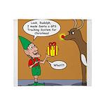 GPS - Bad Reindeer Gift Throw Blanket