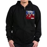 Christmas Choir Zip Hoodie (dark)