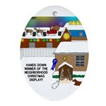 Best Christmas Decorations Ornament (Oval)