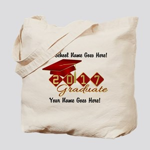 Graduate 2017 Red Gold Tote Bag