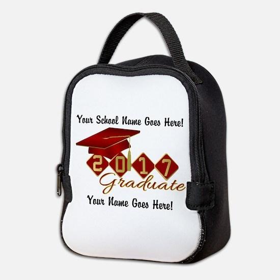 Graduate 2017 Red Gold Neoprene Lunch Bag