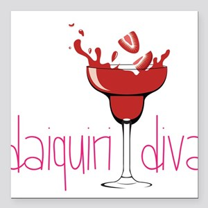 "Daiquiri Diva Square Car Magnet 3"" x 3"""
