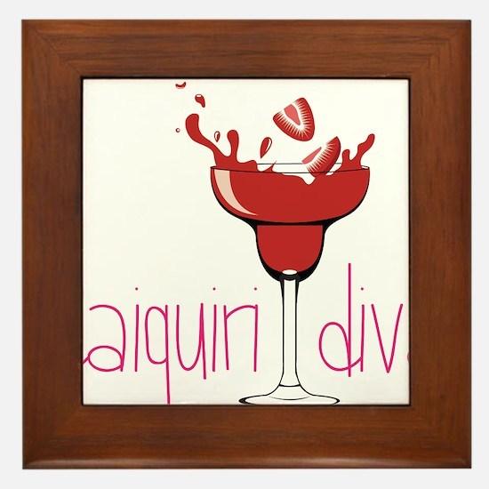 Daiquiri Diva Framed Tile