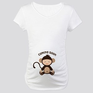 Baby Monkey Coming Soon Maternity T-Shirt