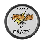 I am a special kind of crazy Large Wall Clock
