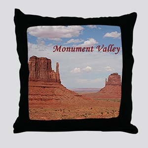 Monument Valley (caption) Throw Pillow