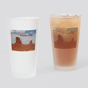Monument Valley (caption) Drinking Glass
