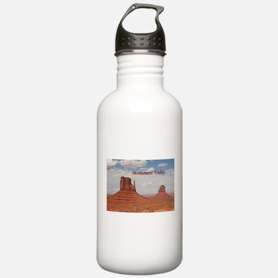 Monument Valley (caption) Water Bottle