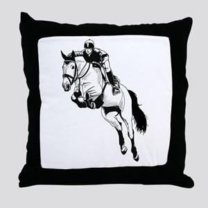 Two Hearts, One Passion Throw Pillow