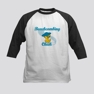 Beachcombing Chick #3 Kids Baseball Jersey