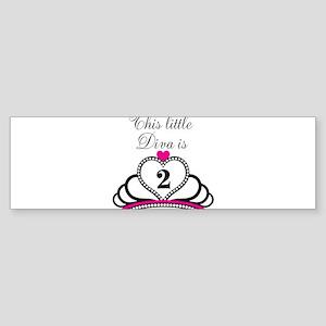 This Little Diva is 2 Sticker (Bumper)