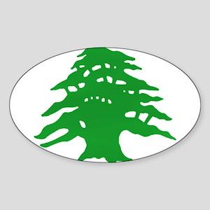 The tree Oval Sticker