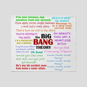 Big Bang Theory Quotes Throw Blanket