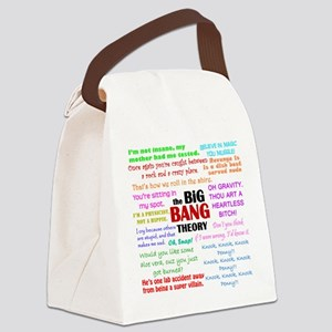 Big Bang Theory Quotes Canvas Lunch Bag