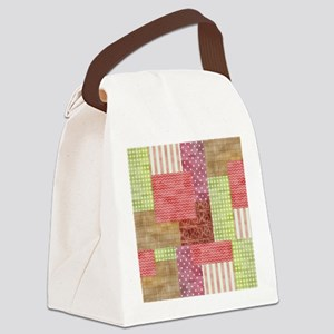 Trendy Patchwork Quilt Canvas Lunch Bag