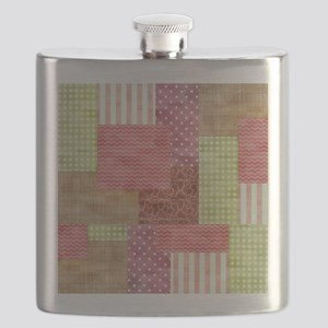 Trendy Patchwork Quilt Flask